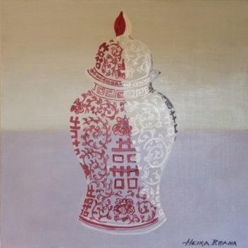 Ming Vessel, Alizarin Crimson