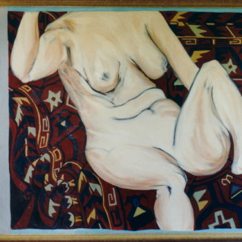Recling Nude On Persian Rug I