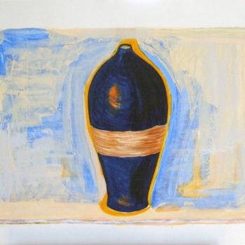 Moroccan Blue Vase