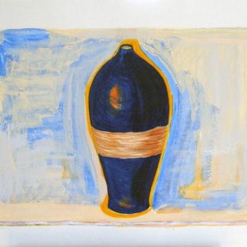 Moroccan Blue Vessel